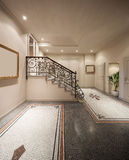 Hall of a classical mansion Royalty Free Stock Photography