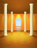 Hall with columns and balcony Stock Image