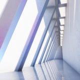 Hall concret moderne avec la colonne Photographie stock libre de droits