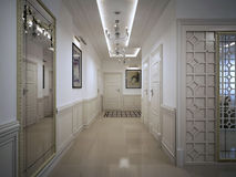 Hall corridor classic style Royalty Free Stock Photography