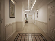 Hall corridor classic style Stock Image