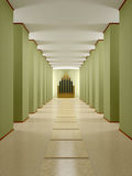 Hall, corridor with columns and podium. 3D render interior Stock Images