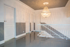 Hall with crystal pendant Royalty Free Stock Photo