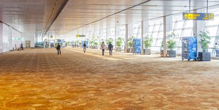 Hall d'aéroport à Delhi Photo stock