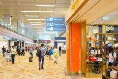 Hall d'aéroport de Changi Singapour Images stock