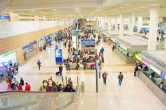 Hall d'aéroport de Shanghai Pudong, Chine Images libres de droits