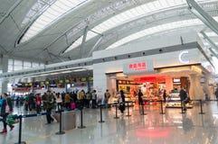 Hall d'aéroport de ville de Guiyang Photographie stock