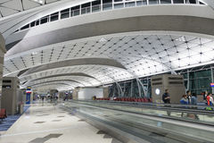 Hall d'aéroport international de Hong Kong Image stock