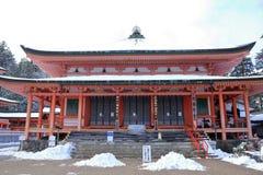 Hall d'Amida de temple d'Enryaku Images stock