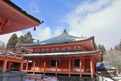 Hall d'Amida de temple d'Enryaku Images libres de droits