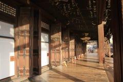 Hall d'Amida de temple de Nishi Hongan Photographie stock libre de droits