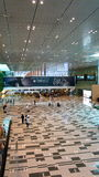 Hall d'arrivée à l'aéroport de Changi, Singapour Images libres de droits