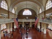 Hall d'Ellis Island Main photo libre de droits