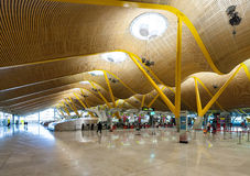 Hall d'enregistrement d'aéroport de Barajas Photo libre de droits