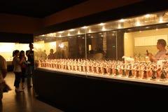 Hall d'exposition dans un musée de l'histoire Image libre de droits