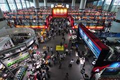 Hall d'exposition de grands machines et matériel Photographie stock libre de droits