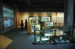 Hall d'exposition de pièce chinoise de fabrication de marionnettes Photographie stock libre de droits