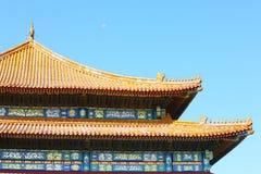 Hall d'harmonie suprême dans Cité interdite Images stock