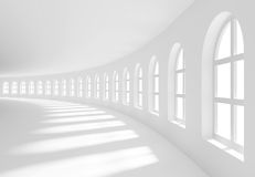 Hall. 3d Illustration of Large Hall with Windows royalty free illustration