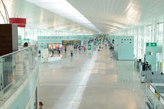 Hall dans l'aéroport international de Barcelone Image libre de droits
