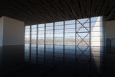 Hall de attente avec la fenêtre Image stock