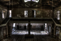 Hall de bâtiment de mine de mine photo stock