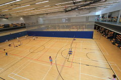 Hall de badminton de Hong Kong en Hang Hau Sports Centre Photo stock