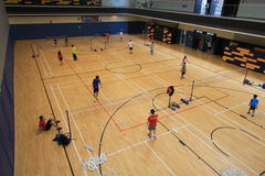 Hall de badminton de Hong Kong en Hang Hau Sports Centre Photographie stock
