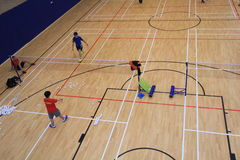 Hall de badminton de Hong Kong en Hang Hau Sports Centre Image libre de droits
