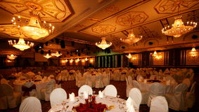 hall de banquet Photographie stock libre de droits