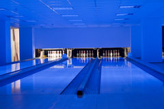 Hall de bowling/voies de bowling Images libres de droits
