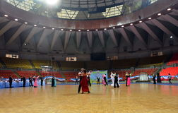 Hall de chalenge de danse de salle de bal en Thaïlande 2013 photographie stock