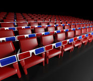 Hall de cinéma et glaces 3d vides Images libres de droits