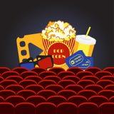 Hall de cinéma de film illustration libre de droits