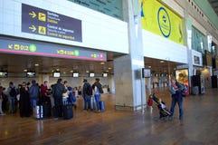 Hall de départ d'aéroport de Barcelone Photos libres de droits