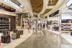 Hall de départ d'aéroport de Menara à Marrakech morocco Photographie stock libre de droits