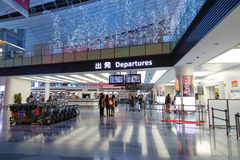 Hall de départs d'aéroport de Haneda, Japon Images stock