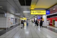 Hall de départs d'aéroport de Haneda, Japon Images libres de droits