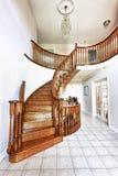 Hall de entrada con la escalera Fotos de archivo libres de regalías