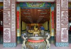 Hall de entrada del templo de Wumiao Fotos de archivo libres de regalías