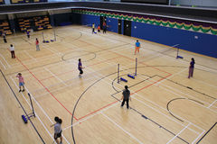 Hall de Hong Kong Badminton Photo stock