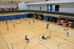 Hall de Hong Kong Badminton Photographie stock libre de droits