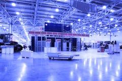 Hall de l'exposition des machines agricoles Images libres de droits