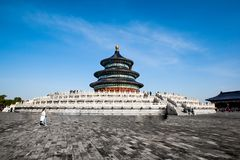 Hall de prière pour la bonne récolte dans le temple du Ciel, Pékin image libre de droits