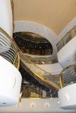 Hall de réception de bateau de croisière de MSC Musica Photos stock