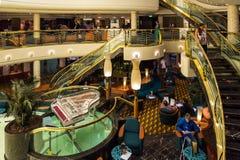 Hall de réception de bateau de croisière de MSC Musica Photo stock