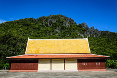 Hall de sermon dans un monastère Photo stock