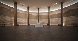 Hall de souvenir dans la paix nationale Memorial Hall d'Hiroshima Images libres de droits