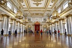 Hall de St George (désigné sous le nom de la grande pièce de trône) Image stock