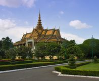 Hall de trône dans Phnom Penh Images libres de droits